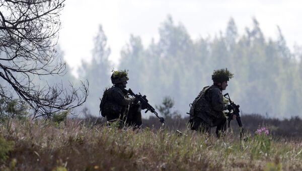 Пољски војници током војних вежби НАТО-а у Летонији - Sputnik Србија