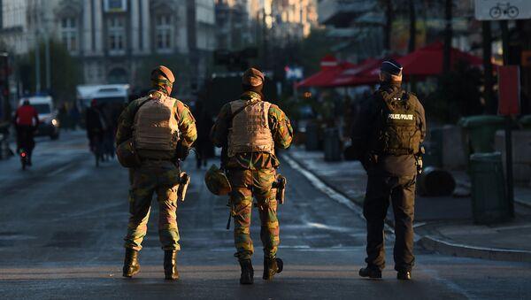 Belgijska vojska i policija na ulicama Brisela - Sputnik Srbija