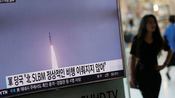 Južnokorejski mediji izveštavaju o lansiranju severnokorejske balističke rakete - Sputnik Srbija