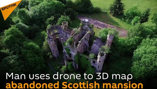 Zaleđen u vremenu: 3D obilazak napuštenog škotskog zamka - Sputnik Srbija