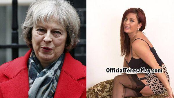 Buduća britanska premijerka Tereza Mej i zvezda porno industrije Tereza Mej - Sputnik Srbija
