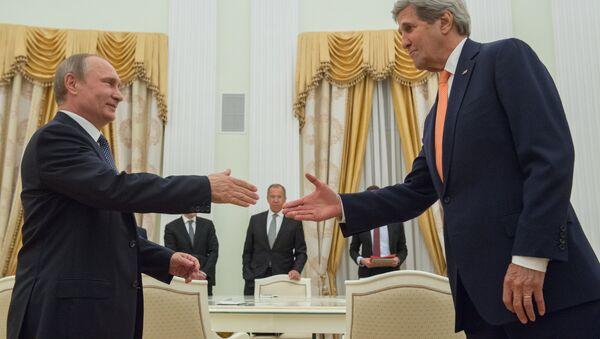 Владимир Путин и Џон Кери у Москви - Sputnik Србија