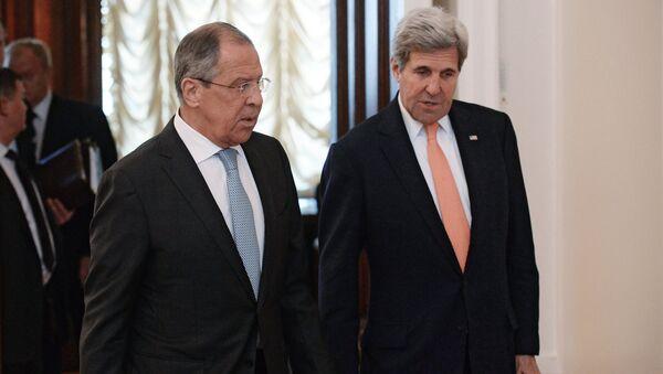Sastanak ruskog ministra spoljnih poslova Sergeja Lavrova i američkog državnog sekretara Džona Kerija - Sputnik Srbija