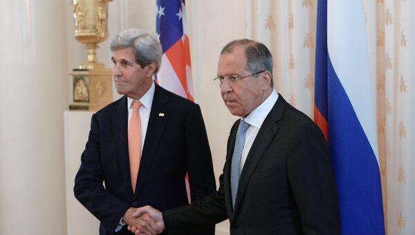 Sastanak ruskog ministra spoljnih poslova Sergeja Lavrova i američkog državnog sekretara Džona Kerija u Moskvi - Sputnik Srbija