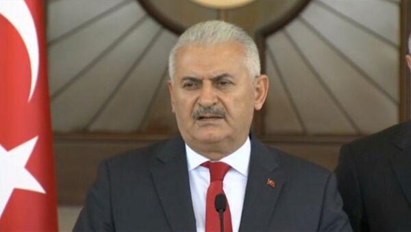 Turski premijer Binali Jildirim na pres-konferenciji nakon pokušaja državnog udara u Turskoj - Sputnik Srbija