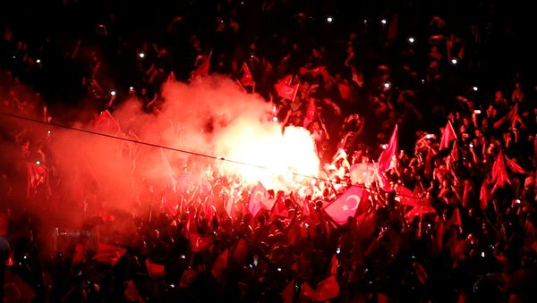 Miting u znak podrške turskom perdsedniku Redžepu Tajipu Erdoganu - Sputnik Srbija