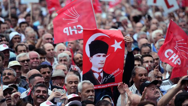 Турска опозиција, протест - Sputnik Србија