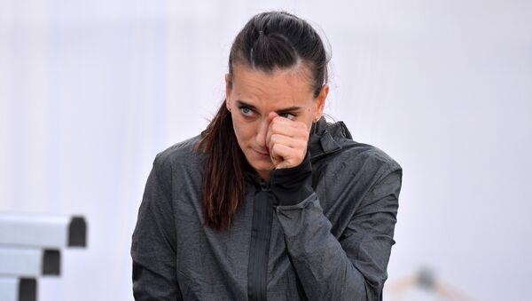 Atletičarka Jelena Isinbajeva tokom prvenstva Rusije u atletici - Sputnik Srbija