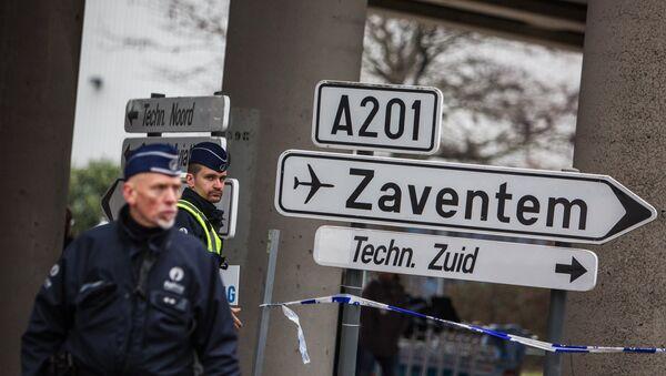 Полицијске снаге Белгије на улицама после терористичког напада у метроу и аеродрому у Бриселу. - Sputnik Србија