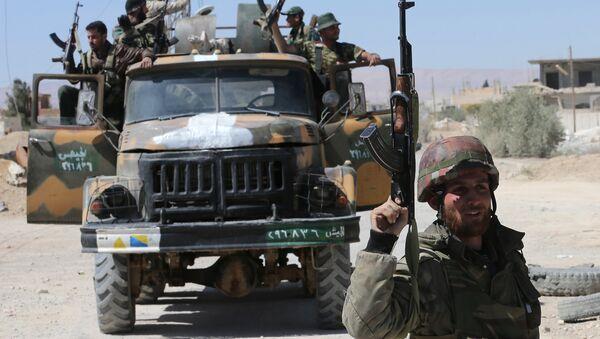 Сиријски војници у провинцији Хомс - Sputnik Србија