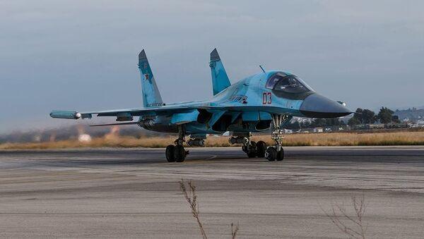 Ruska vazdušna grupa u vazdušnoj bazi Hmejmim u Siriji. - Sputnik Srbija