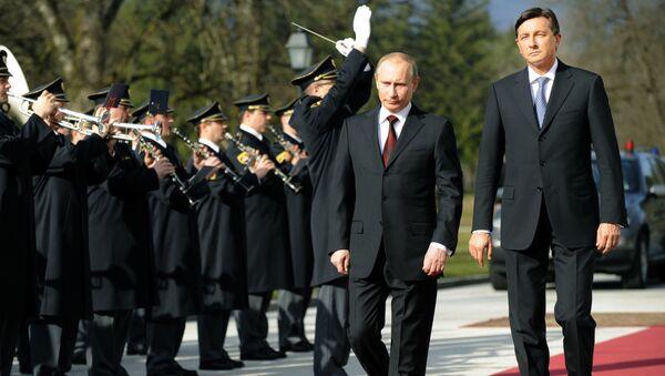 Vladimir Putin i Borut Pahor - Sputnik Srbija