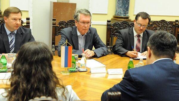Aleksandar Čepurin na sastanku sa Ivicom Dačićem i Zoranom Đorđevićem - Sputnik Srbija