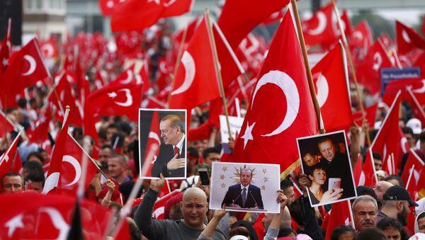 Erdoganove pristalice protestuju u Nemačkoj, Keln - Sputnik Srbija
