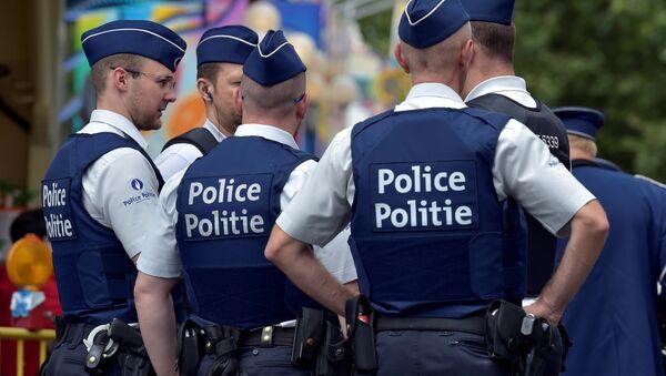 Pripadnici belgijske policije u Briselu. - Sputnik Srbija