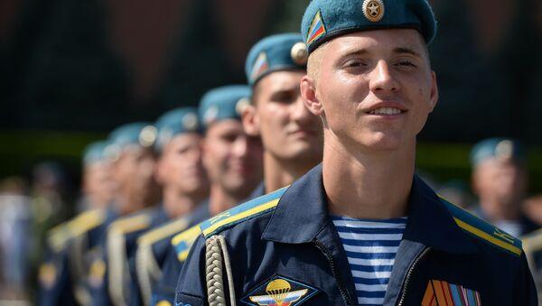 Војници на прослави годишњице формирања руске Ратне морнарице у Москви - Sputnik Србија