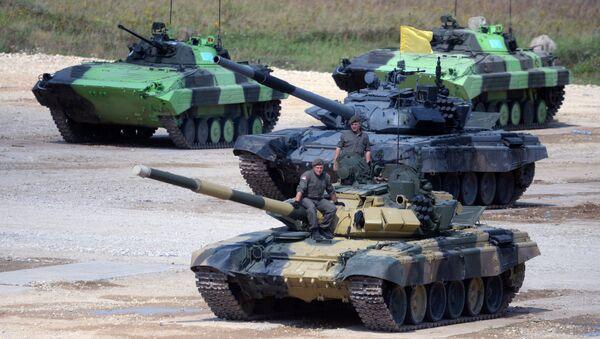 Posada tenka T-72B3 Vojske Srbije tokom takmičenja u tenkovskom bijatlonu na poligonu Alabino. - Sputnik Srbija