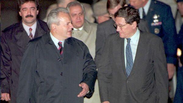 Slobodan Milošević i Ričard Holbruk - Sputnik Srbija