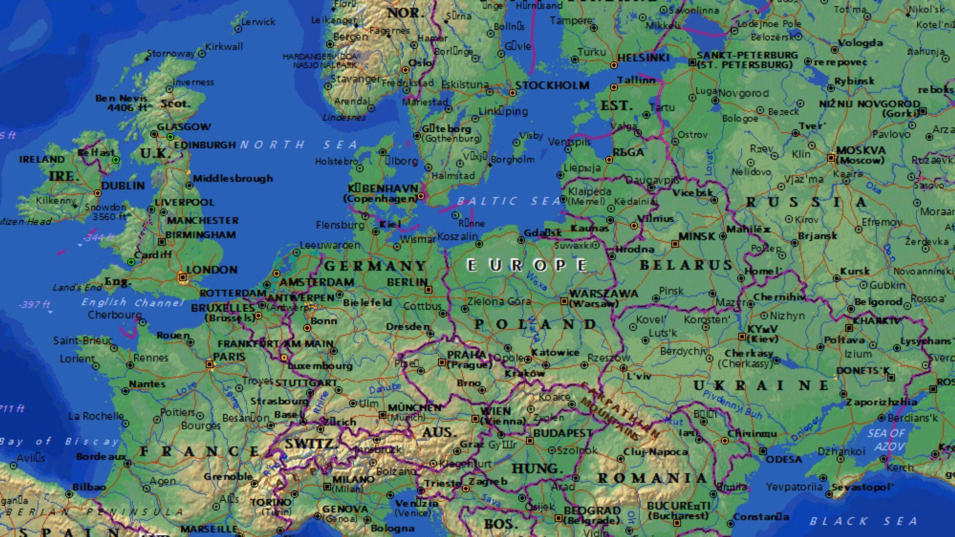 Karta Evrope - Sputnik Srbija, 1920, 21.09.2021