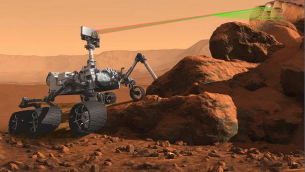 Микрофон додат на роверов ласер за истраживање површине Марса. - Sputnik Србија