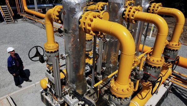 Rad na jedinici za separaciju bloka za distribuciju gasa. - Sputnik Srbija