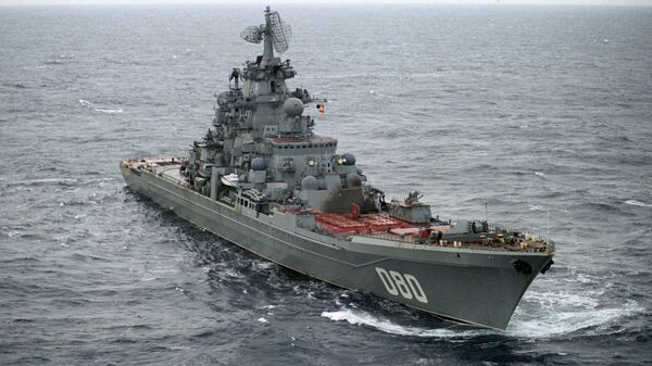 Тешка нуклеарна ракетна крстарица Адмирал Нахимов у Баренцовом мору. - Sputnik Србија