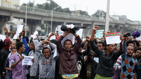 Антивладини протести у Адис Абеби. - Sputnik Србија
