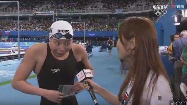Kineska plivačica zapanjena svojim olimpijskim rezultatom - Sputnik Srbija