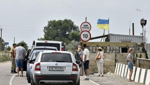 Kontrolni punkt na rusko-ukrajinskoj granici. - Sputnik Srbija