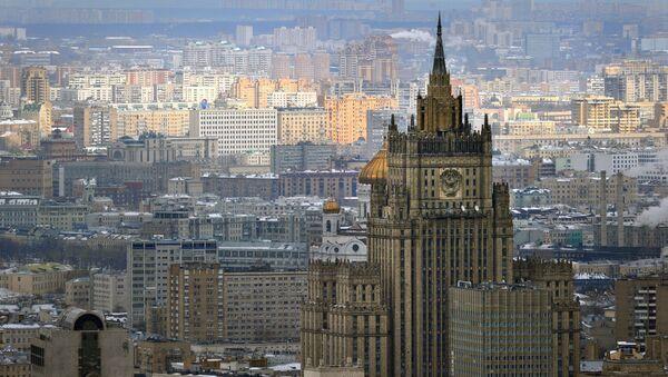 Pogled na zgradu Ministarstva spoljnih poslova u Moskvi. - Sputnik Srbija