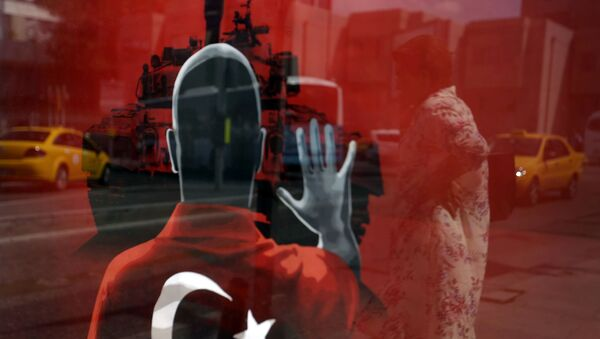 Plakat na trgu u Istanbulu - Sputnik Srbija
