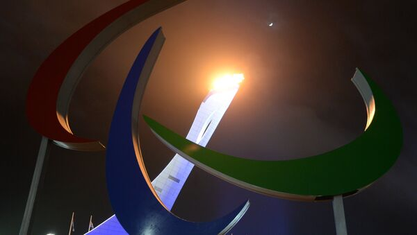 Paljenje paraolimpijske baklje na otvaranju Olimpijskih igara u Sočiju 2014. - Sputnik Srbija