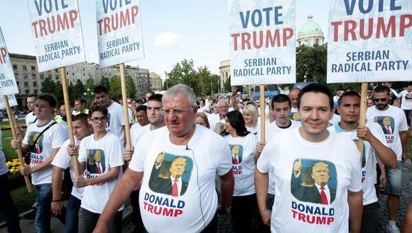 Протест радикала у Београду против доласка Бајдена у званичну посету - Sputnik Србија