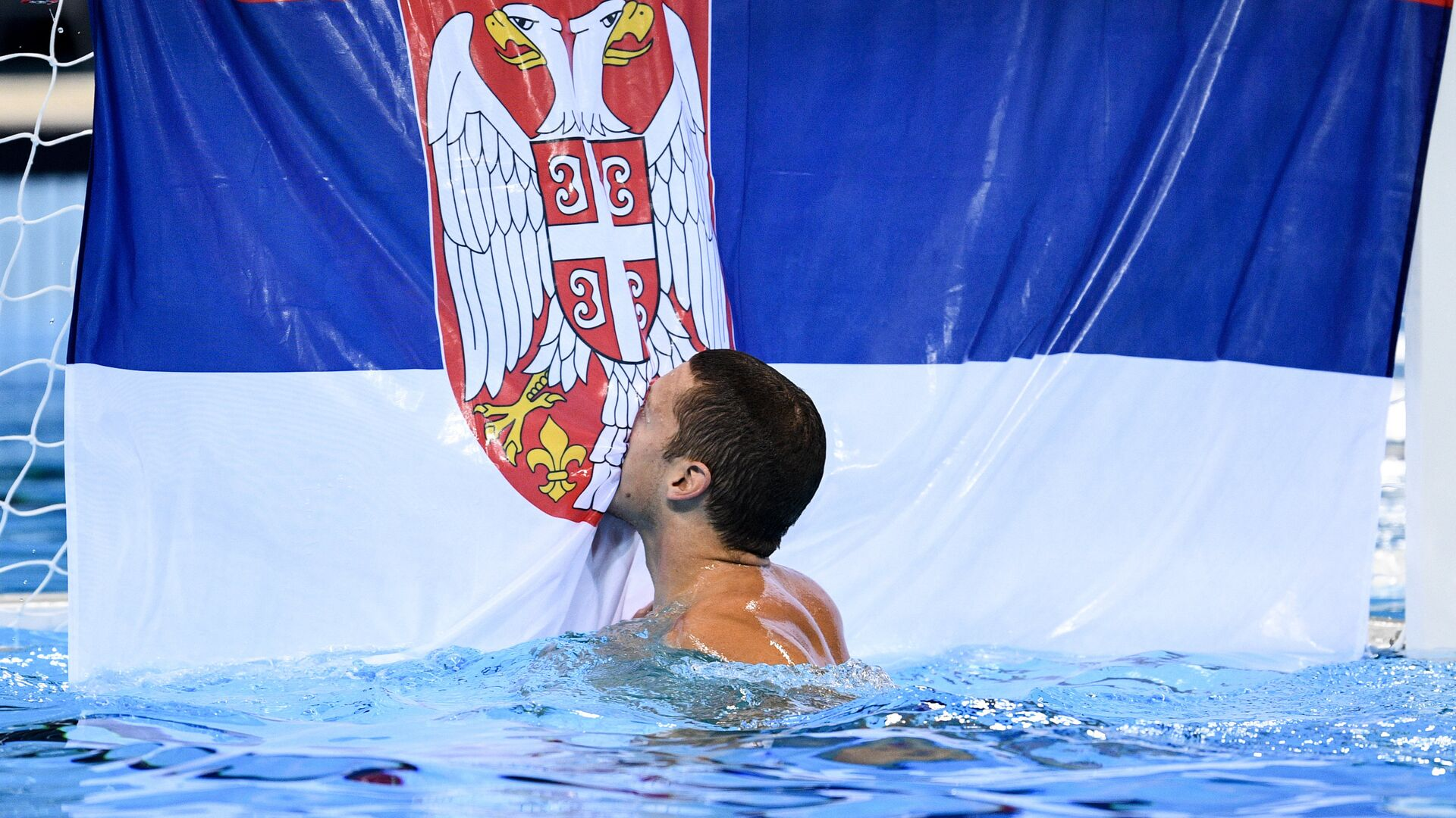 Stefan Mitrović u Riju, posle pobede u finalu sa Hrvatskom. - Sputnik Srbija, 1920, 19.07.2021