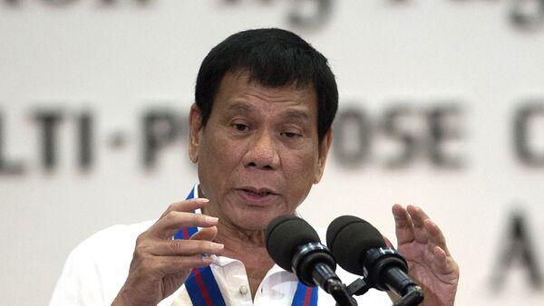 Председник Филипина Родриго Дутерте говори на облежавању 115. годишњице полиције у Манили. - Sputnik Србија