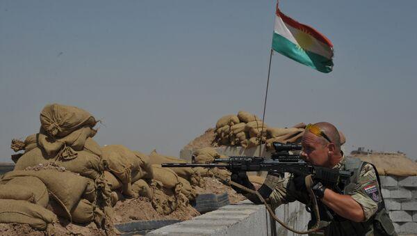 Девета бригада курдских пешмегри на бојишту у Сирији. - Sputnik Србија