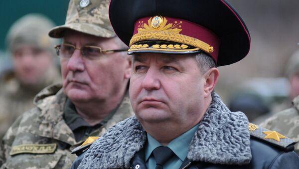 Министар одбране Украјине Степан Полторак - Sputnik Србија
