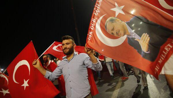 Erdoganove pristalice - Sputnik Srbija