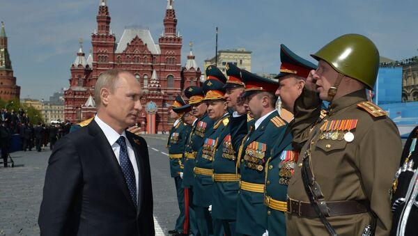 Predsednik Rusije Vladimir Putin sa vojnim vrhom  - Sputnik Srbija
