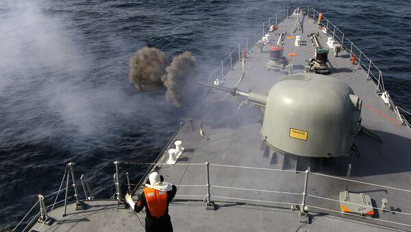 Iranska mornarica u Ormuskom moreuzu u južnom Iranu - Sputnik Srbija
