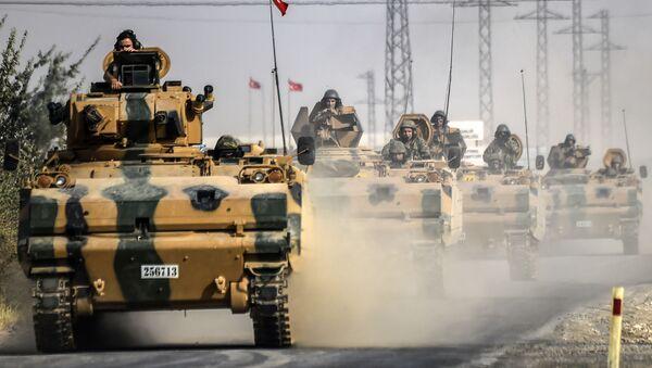 Турски тенкови у Џараблусу - Sputnik Србија