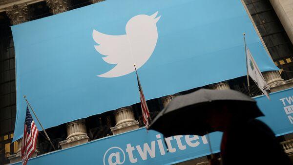 Лого Твитера у Њујорку - Sputnik Србија