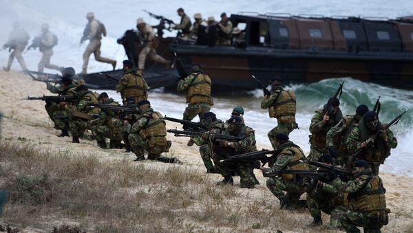 Португалски војници при НАТО снагама, на војној вежби - Sputnik Србија