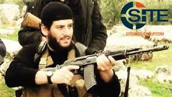 This undated militant image provided by SITE Intel Group shows Abu Muhammed al-Adnani, the Islamic State militant group's spokesman who IS say was martyred in northern Syria. - Sputnik Србија