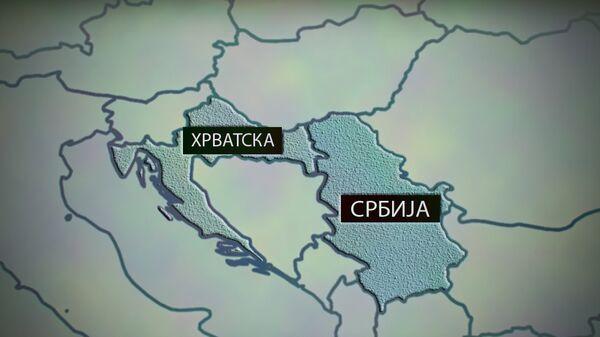 Karta Srbija - Hrvatska - Sputnik Srbija