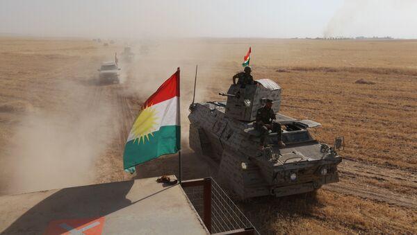 Borci kurdske pešmerge u Mosulu, Irak - Sputnik Srbija