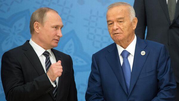 Predsednik Rusije Vladimir Putin i predsednik Uzbekistana Islam Karimov - Sputnik Srbija
