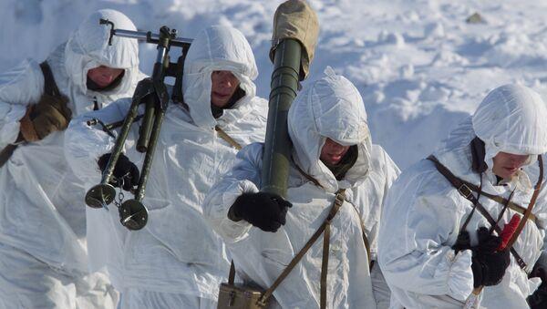 Јединице 61. независног поморског пука Северне флоте током војног марша - Sputnik Србија