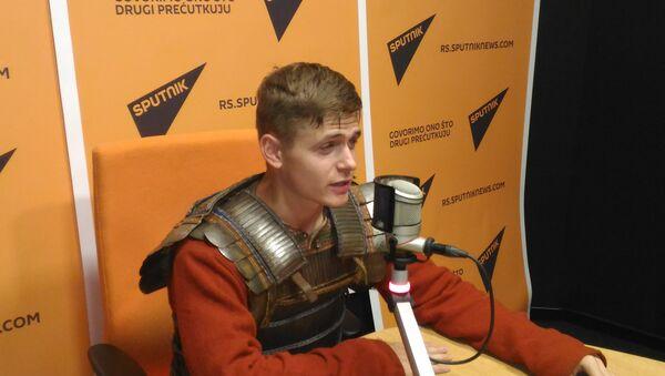 Ruski vitez Sergej Simunjin, član istorijsko-naučnog kluba iz grada Brjanska - Sputnik Srbija