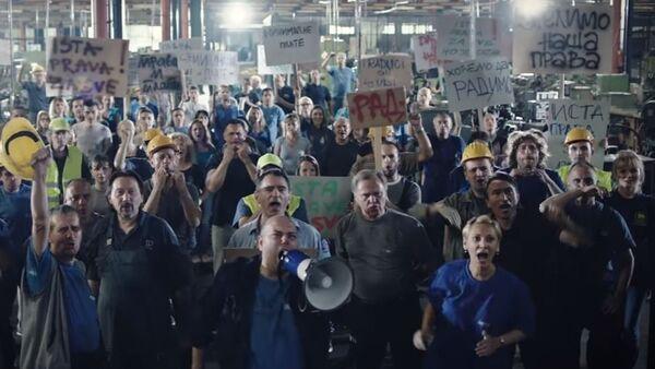 Protest radnika - Sputnik Srbija